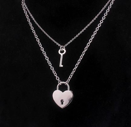 Double chaîne cadenas/clé pour couple