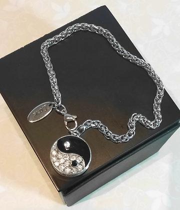 Bracelet en chaîne yin yang