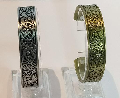 Bracelet magnétique argent ou cuivre