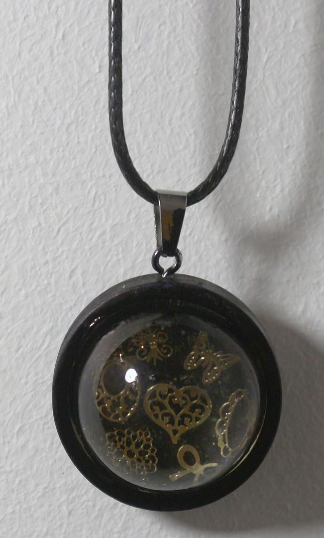 Demi-sphère noir&or