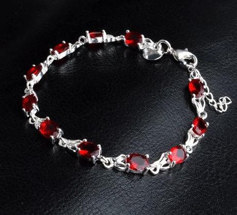 Bracelet rouge/argent