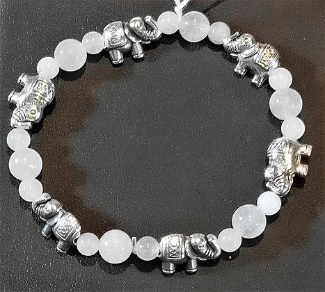Bracelet enfant quartz rose éléphant