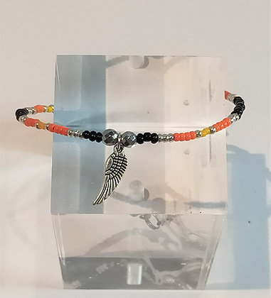 Bracelet tons orange aile
