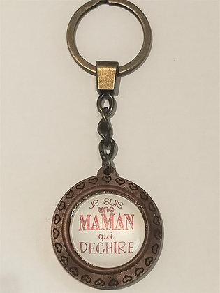 Porte-clés Je suis une maman qui déchire