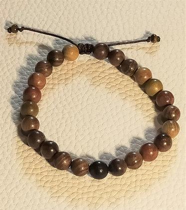 Perles en bois couleurs foncées ajustable