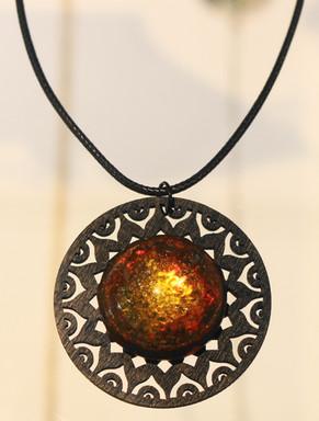 Demi-sphère soleil orange
