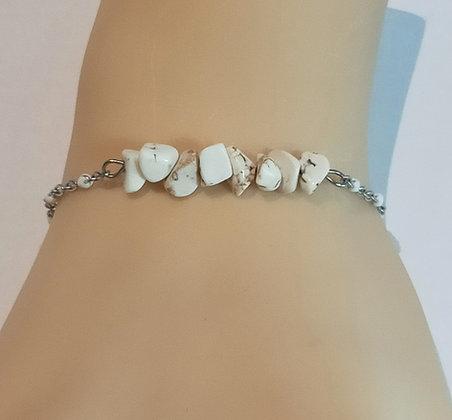 Bracelet argent/blanc turquoise blanc