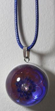 Demi-sphère rose bleu