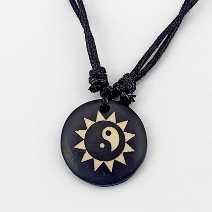 Collier soleil ying yang