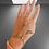 Thumbnail: Bracelet-bague infini argenté