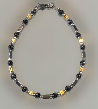 Bracelet hématite doré, argenté, anthracite