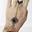 Thumbnail: Bracelet-bague argenté bague noire