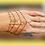 Thumbnail: Bracelet-bague doré 4 rangs