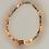 Thumbnail: Bracelet hématite doré rose, doré, fleurs