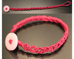 Bracelet macramé cercles