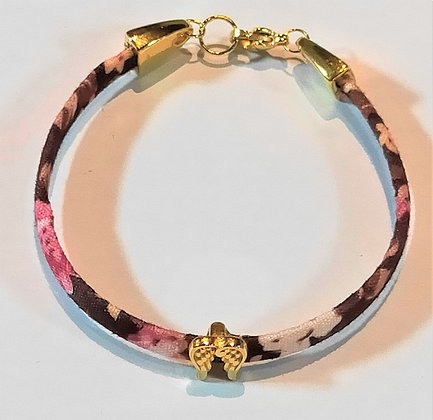 Bracelet enfant liberty marron/ailes d'anges