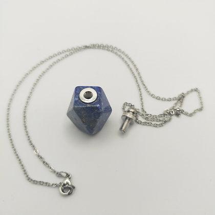 Collier bouteille de parfum lapis lazuli