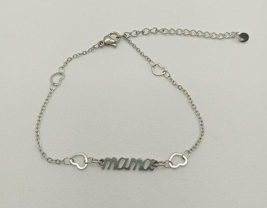 """Bracelet cœur argenté """"MAMA"""""""