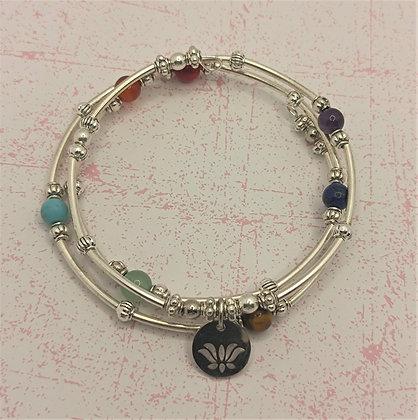 Bracelet mémoire de forme 7 chakras
