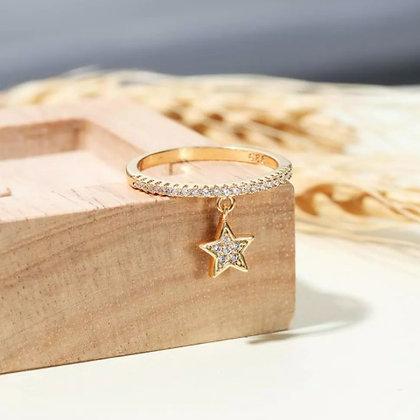 Bague doré étoile