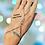 Thumbnail: Bracelet-bague ailes argenté