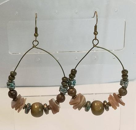Boucles d'oreilles tons marron