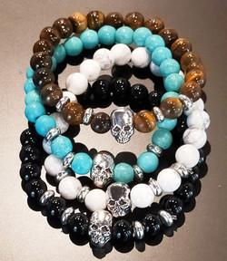 Bracelets en pierres naturelles tête