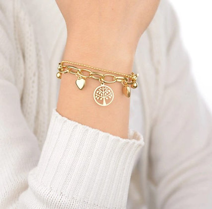 Bracelet cœurs arbre de vie