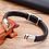 Thumbnail: Bracelet tendance en cuir véritable pour hommes 19