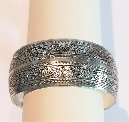Bracelet métal argenté frise (1)