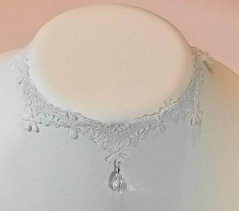 Tour de cou dentelle blanc 5