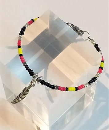 Bracelet noir/jaune/rouge