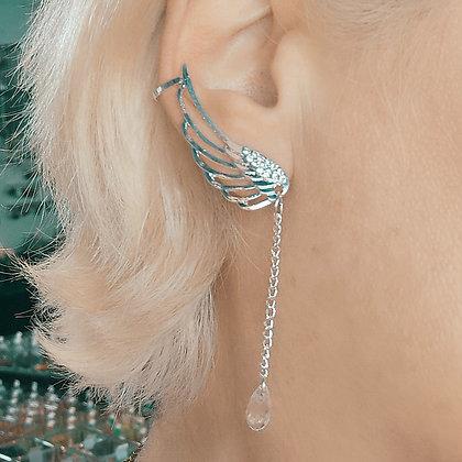 Boucles d'oreilles plaqué argent, ailes d'ange