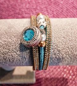 Bracelet bleu bouton pression04454