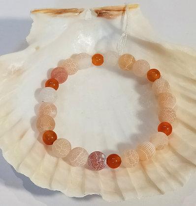 Agate orange opal, cornaline