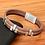 Thumbnail: Bracelet tendance en cuir véritable marron 16