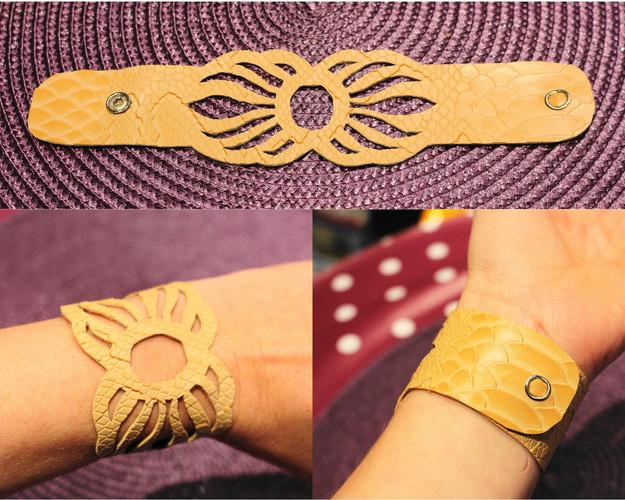 Bracelet peau de serpant 1