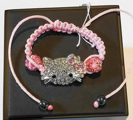 Bracelet enfant hello kitty rose