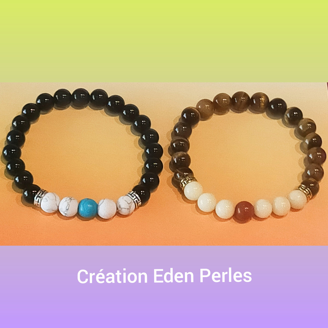 Bracelets en perles naturelles