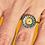 Thumbnail: Bague réglable Om jaune/orange