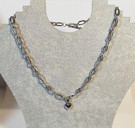 Collier grosse chaîne cœur