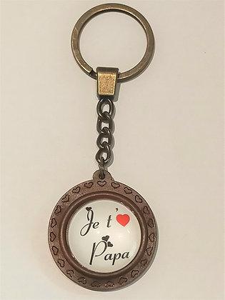 Porte-clés Je t'aime papa