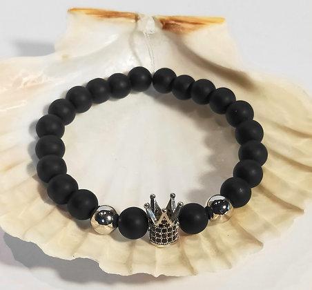 Agate noire, couronne