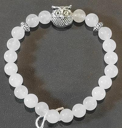 Bracelet enfant quartz rose hibou
