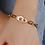 Thumbnail: Bracelet menottes gros maillons en acier inox doré