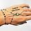 Thumbnail: Bracelet-bague argenté main de fatma
