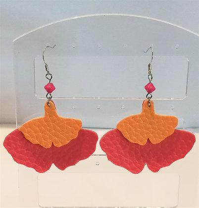 B.O. Similicuir orange/rouge
