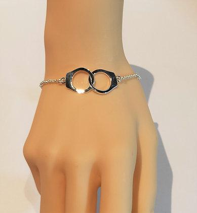 Bracelet menottes en argent
