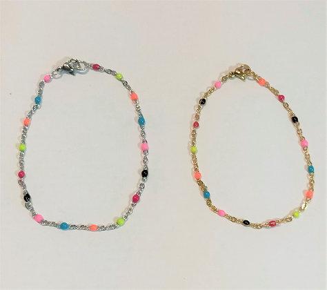 Bracelet  chaîne multicolore