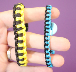 Bracelet macramé 2 couleurs